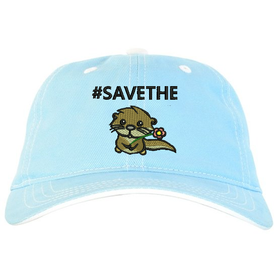 a2870414765 Save the otter - lt blue dad hat