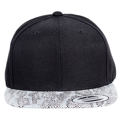 Yupoong snapback   snakeskin   front view