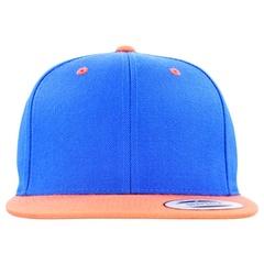 Flexfit premium classic snapback 2 tone   royal   orange   front view