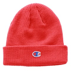 Red beanie hat   champion