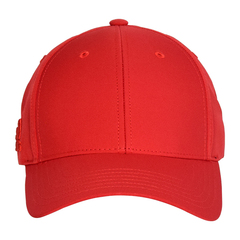Adidas baseball hat   red   front view