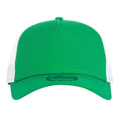 New era trucker hat   kelly green white   front view