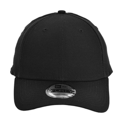 New era strapback structured cap   black   front view
