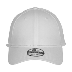 New era strapback structured cap   white   front view