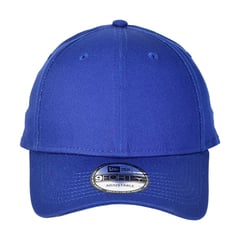New era strapback structured cap   royal   front view