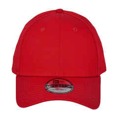 New era strapback structured cap   scarlet   front view