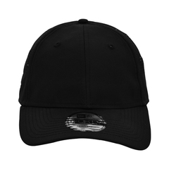 New era perforated performance hat   black   front view
