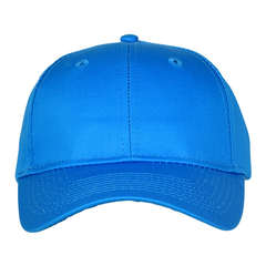 Mid profile baseball hat   blue  front view