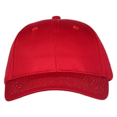 Mid profile baseball hat   cherry red  front view