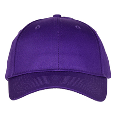 Mid profile baseball hat   purple  front view