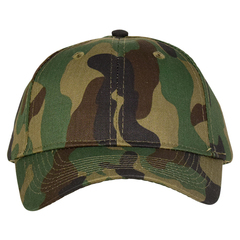 Mid profile baseball hat   camo  front view