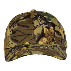 Mid profile baseball hat   camo leaf  front view