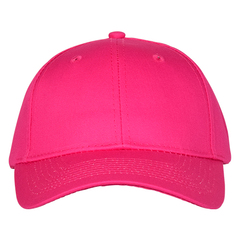 Mid profile baseball hat   tropical pink  front view