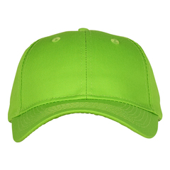 Mid profile baseball hat   neon green  front view