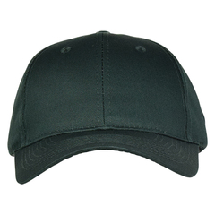 Mid profile baseball hat   forest green  front view