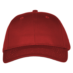 Mid profile baseball hat   maroon  front view