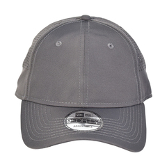 New era perforated performance hat   graphite   front view