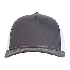 Richardson trucker hat   charcoal white   front view
