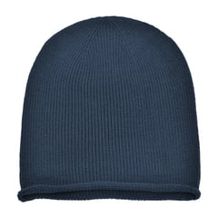 Oversized slouchie beanie   navy   front view
