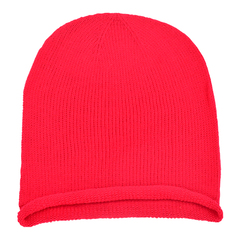 Oversized slouchie beanie   red   front view