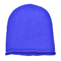 Oversized slouchie beanie   royal blue   front view