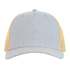 Richardson trucker hat   heather grey amber gold   front view