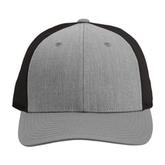Richardson low profile trucker hat   heather gray dark charcoal  front view