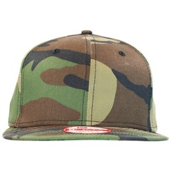 Flat bill 9fifty snapback  new era camo   front view