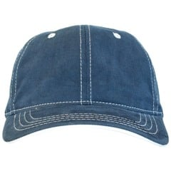 Yupoong adjustables brushed twill cotton dad hat   navy   front view