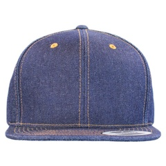 Yupoong denim snapback front view