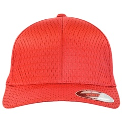 Flexfit athletic mesh   red   front view