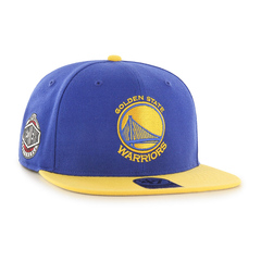 Golden state warriors nba snapback blue yellow 2018 47 brand